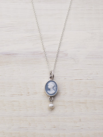 Freshwater Pearl Cameo Necklace