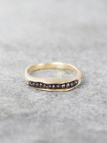 14K Black Diamond Pod Ring