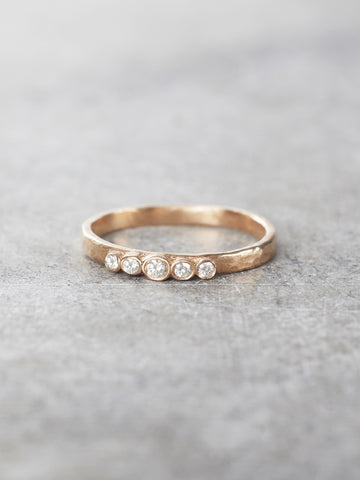 14K Five Diamond Band - LUNESSA