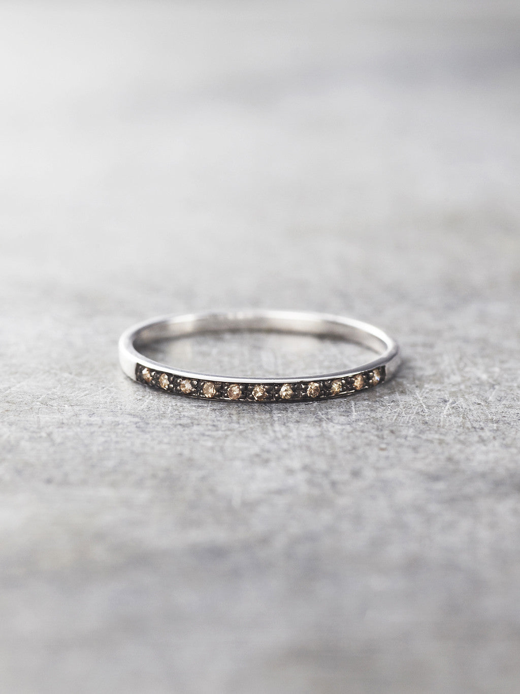 14K Black Gold Diamond Gossamer Band