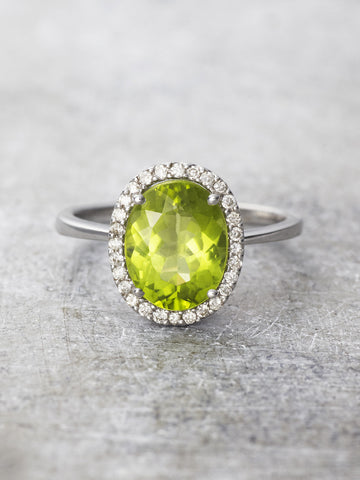 Fields of Green Peridot Cocktail Ring