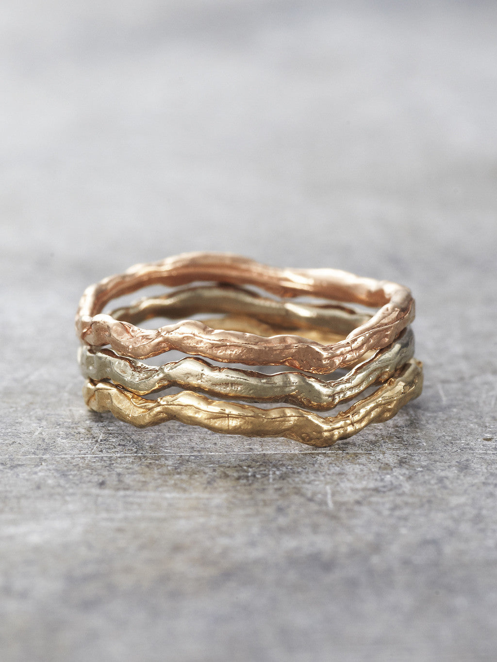 Wavy Branch Stacking Rings - LUNESSA