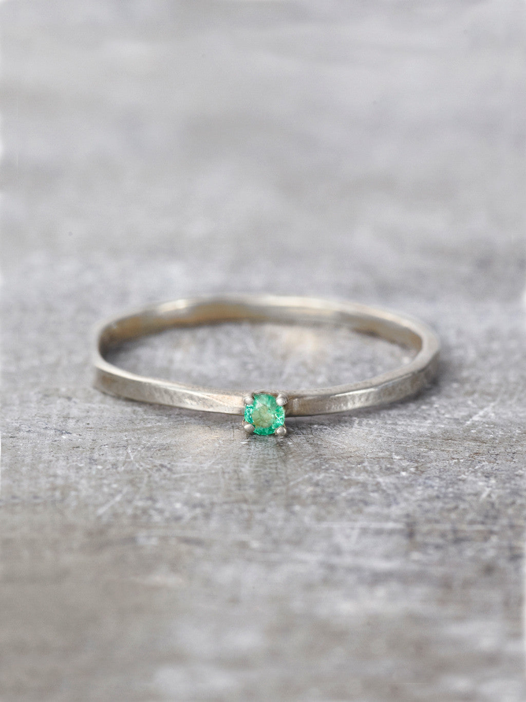 14K Emerald Wish Ring