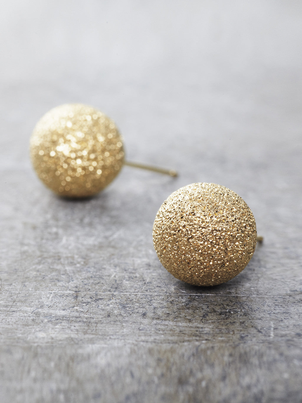 14K Yellow Gold Stardust Post Earrings - 10mm