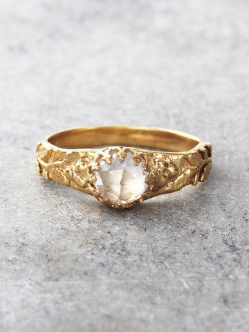 14K Gold Ice Castle Crown Ring - Moissanite 1