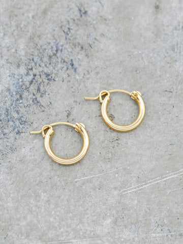 14K Goldfill Classic Hoops - 13mm