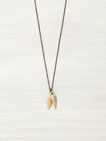 14K Baby Angel Wings Necklace Full Size