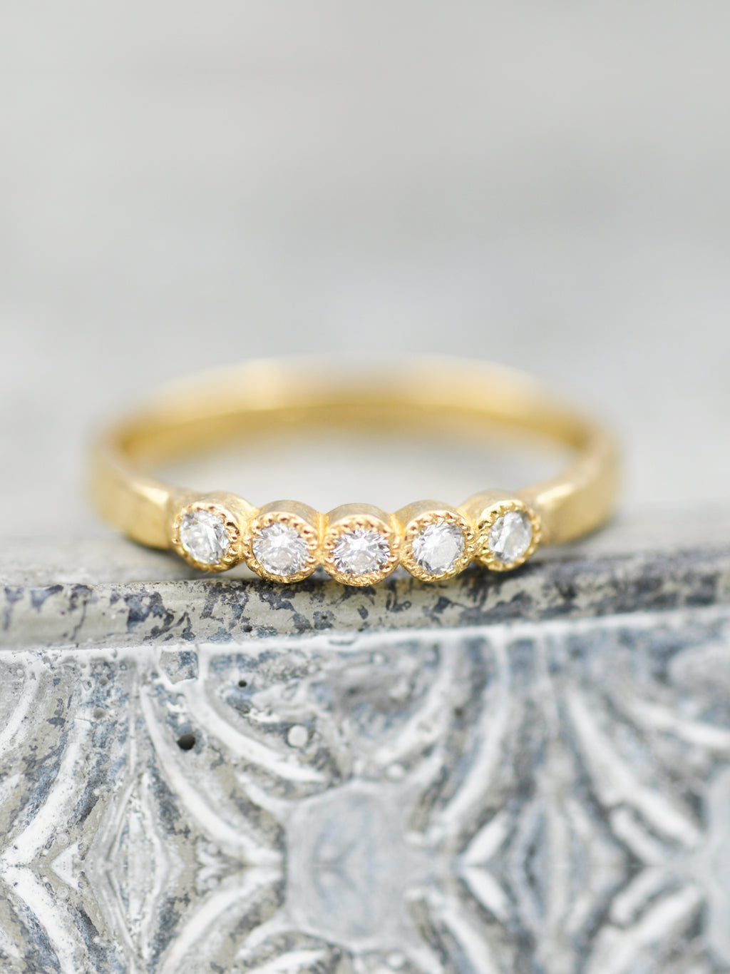 14K Daisy Diamond Ring - 2.4mm