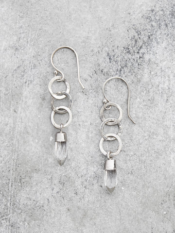 Crystal Point Dangling Earrings