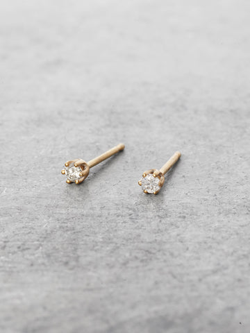 2.4mm 6 Prong Diamond Posts
