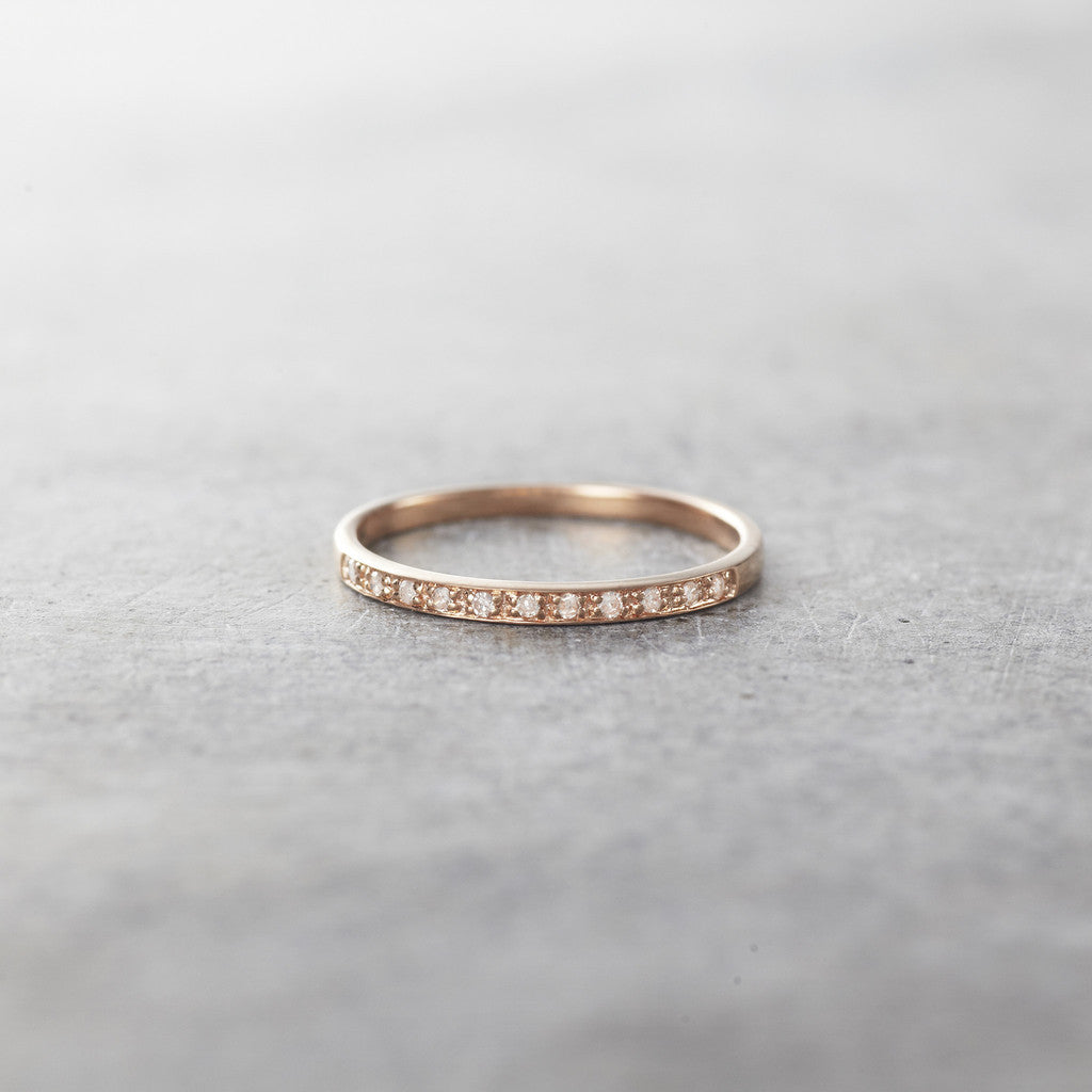 Rose Gold Gossamer Diamond Ring