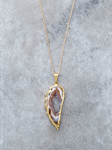 Druzy Angel Wing Necklace