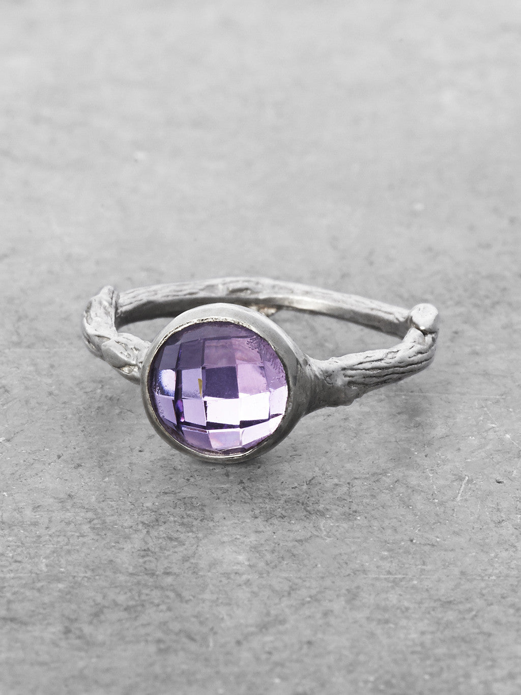 Amethyst Branch Ring