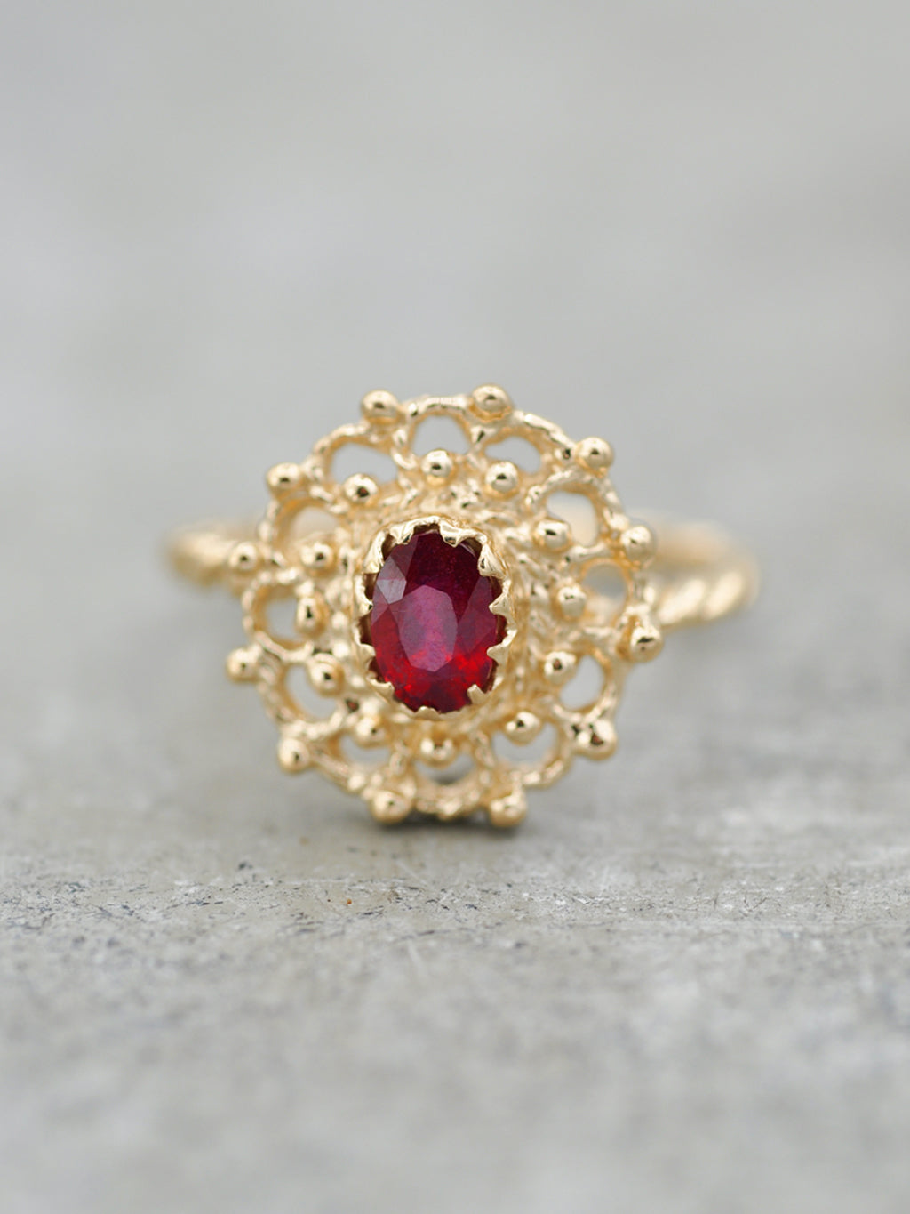 14K Ruby Lace Ring