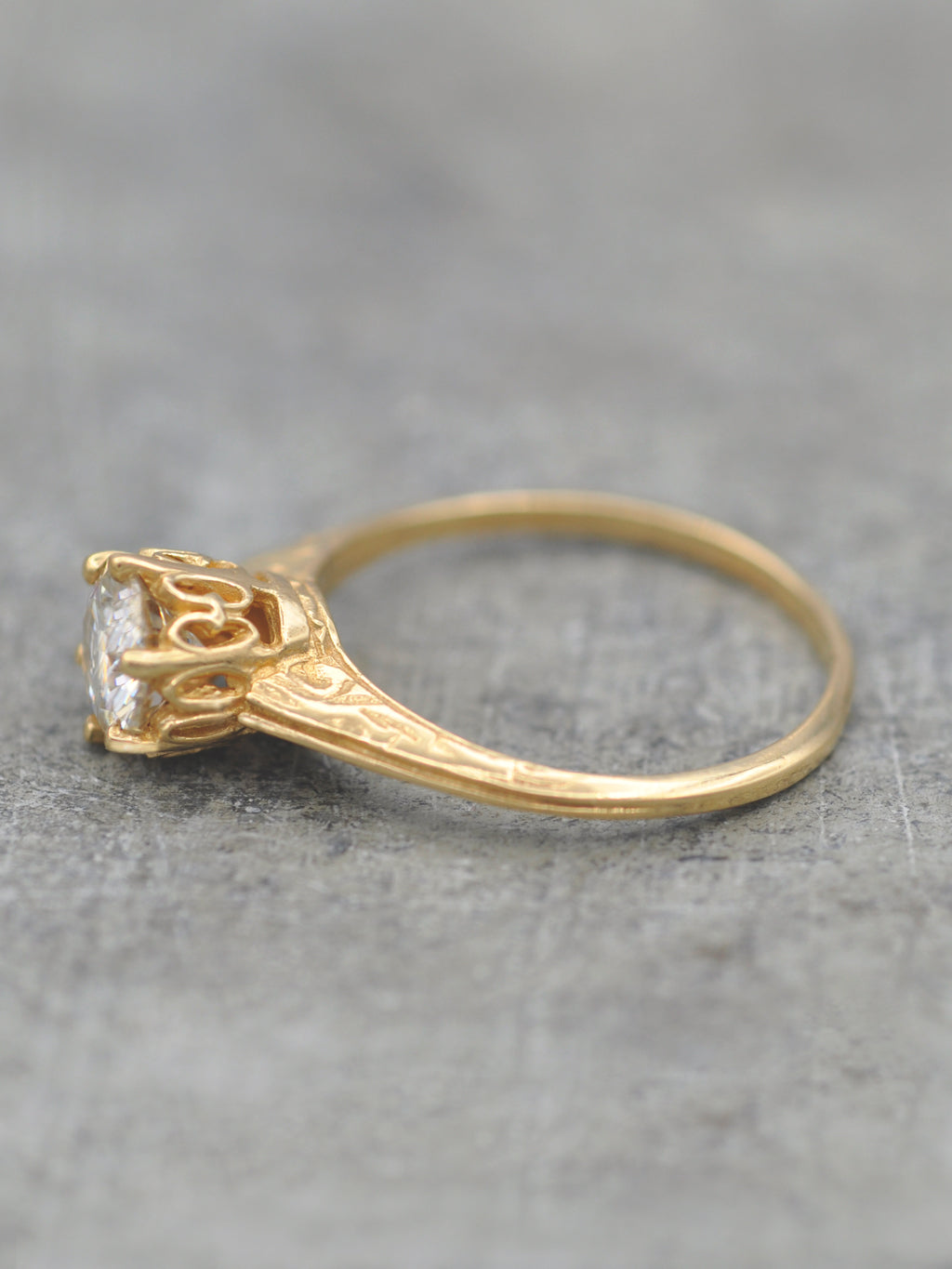 14K Antique Eduardian Crown Ring