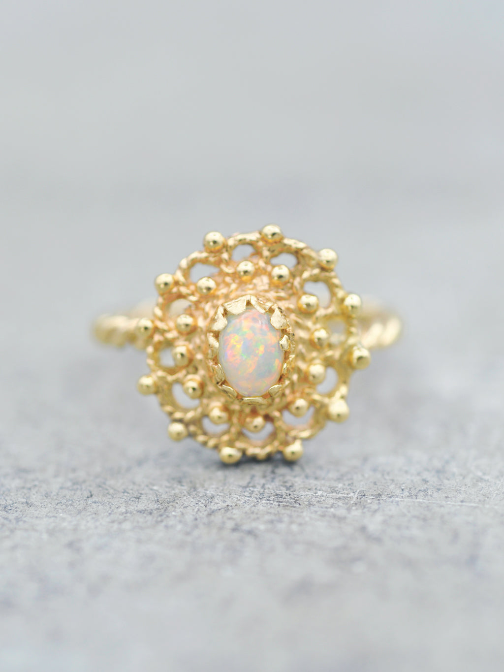 14K Opal Lace Ring