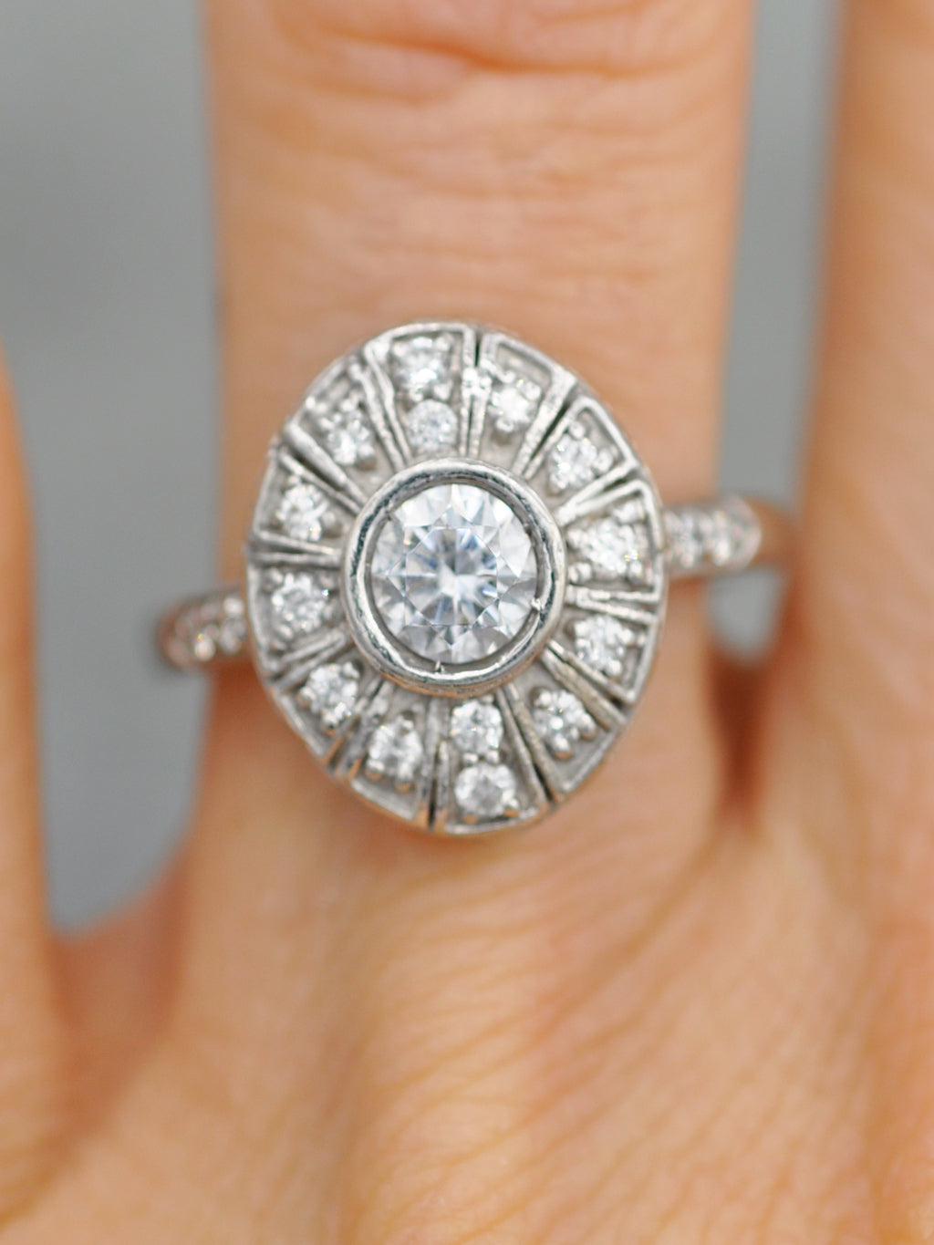 14K Deco Daniella Diamond Ring