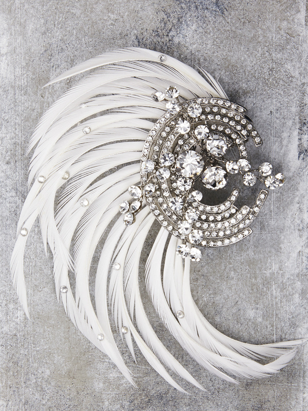 Art Deco Feathered hairpiece