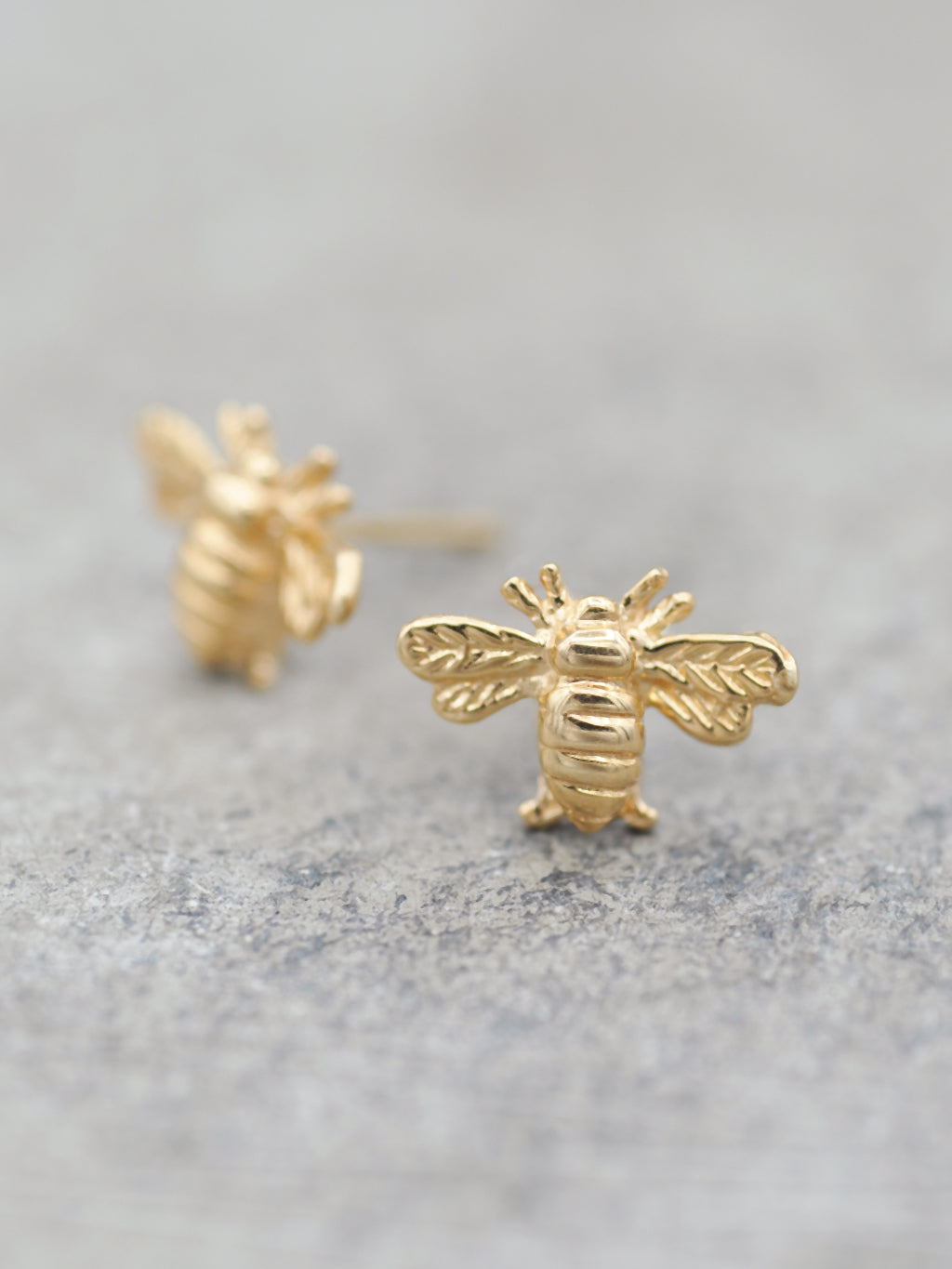 14K Precious Bee Post Earrings