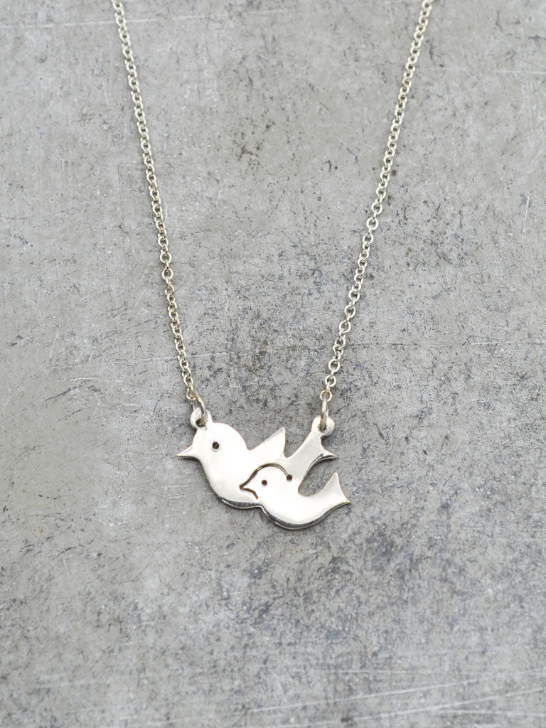 Mama & Baby Birdie Necklace