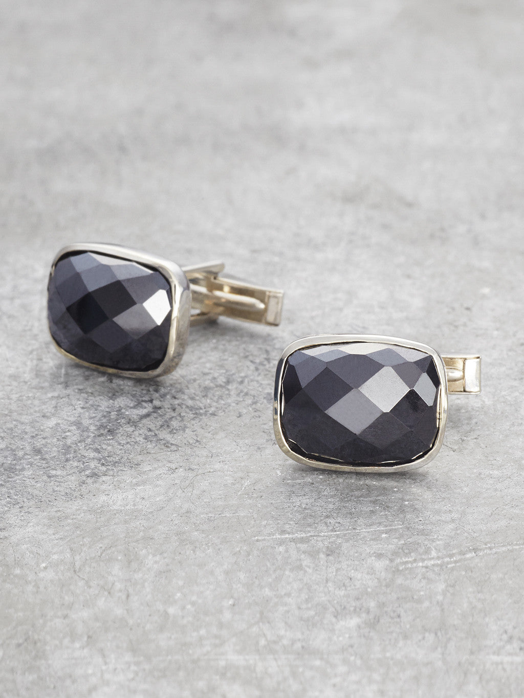 Sterling Black Onyx Cufflinks