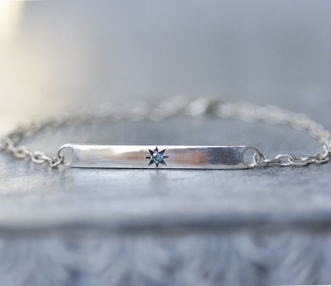 Celestial Blue Diamond Star Bracelet