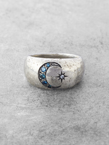 Once in a Blue Moon Ring
