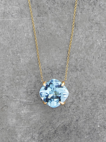 Blue Topaz Claw Necklace