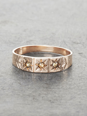 Gypsy Star Champagne Diamond Band - LUNESSA