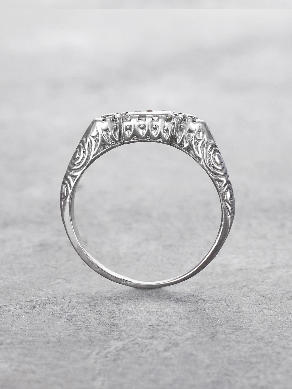 Empress Diamond Baguette Ring