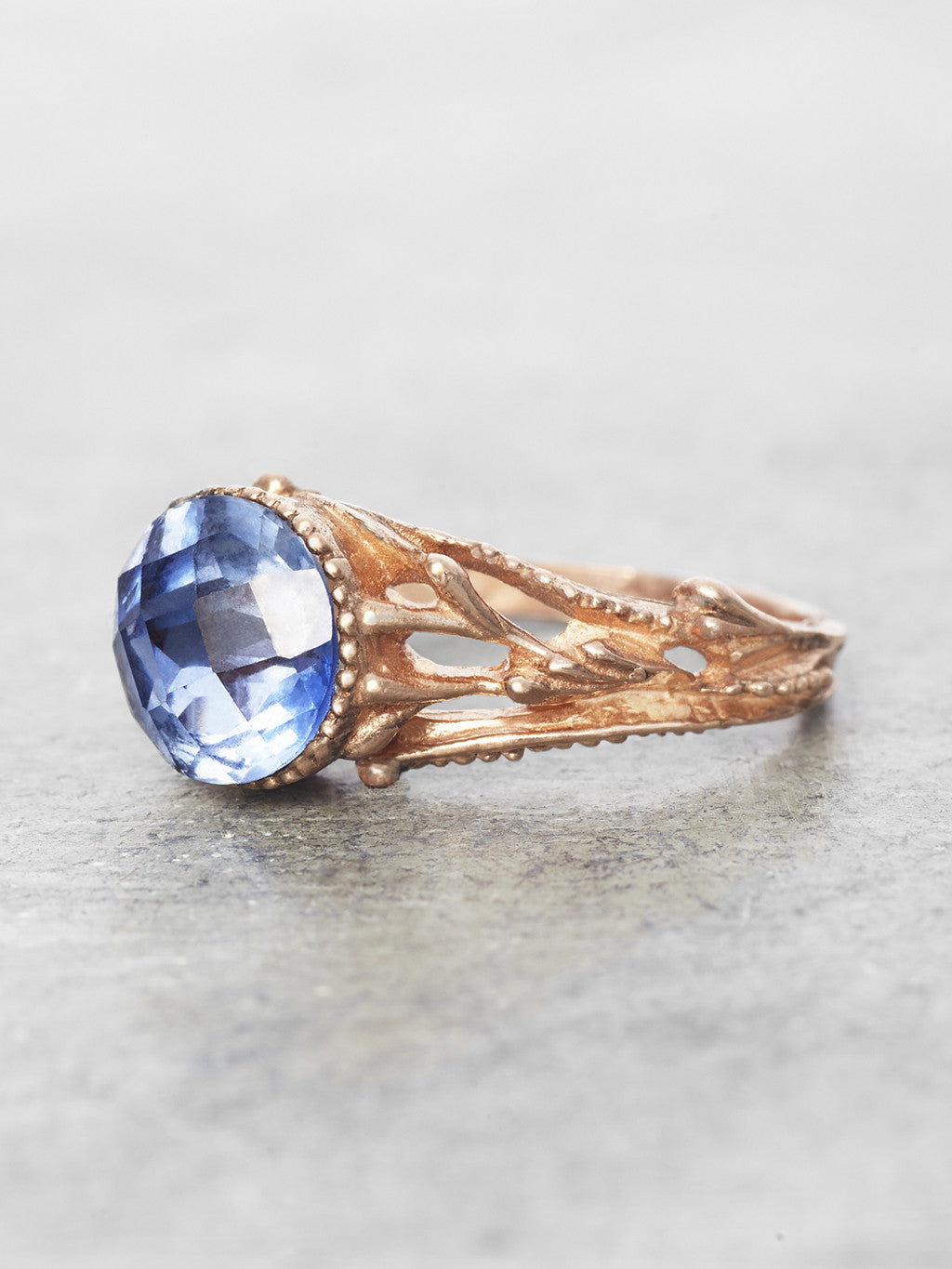 Sapphire Ophelia Ring - side view