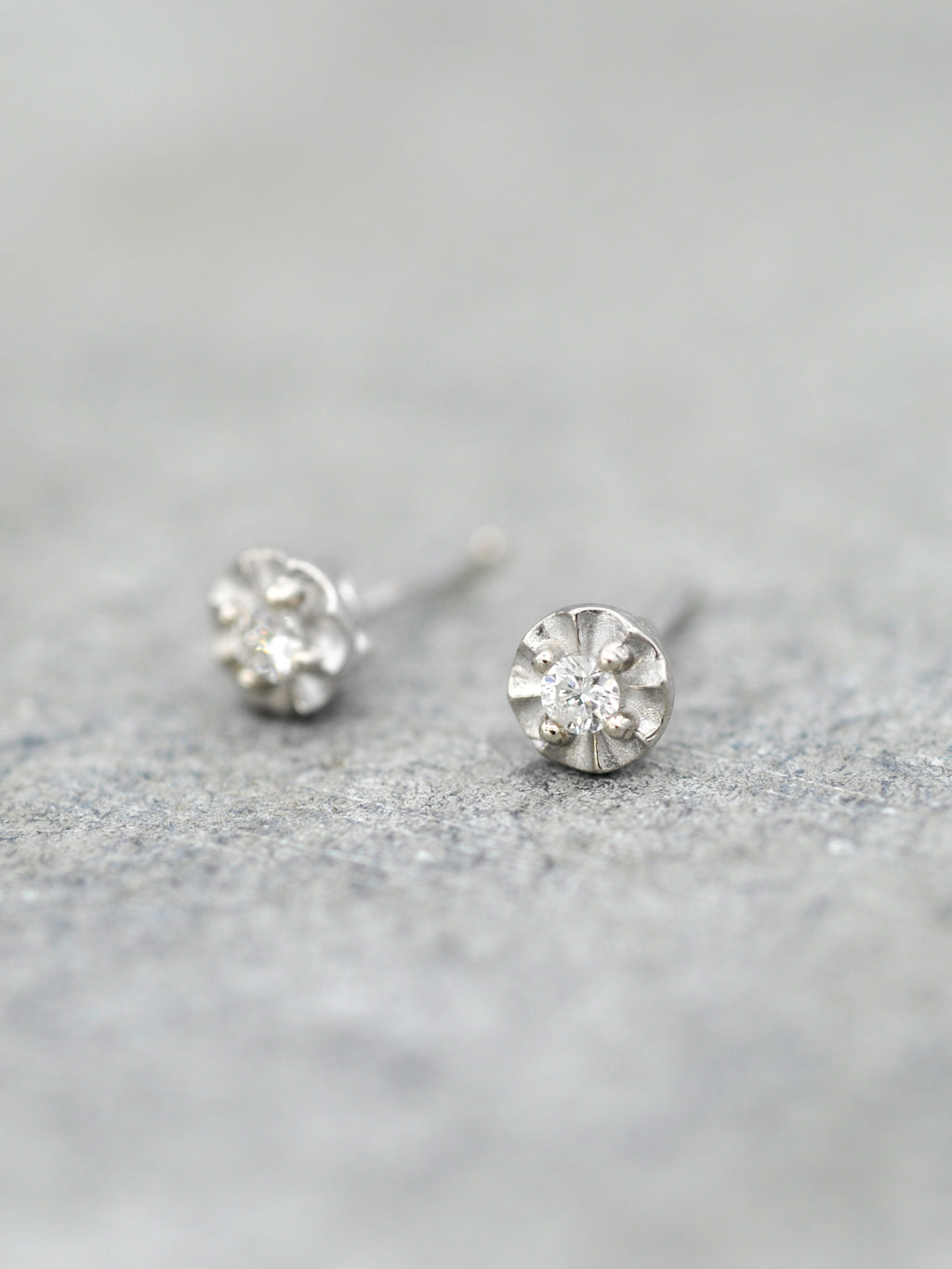 14K Diamond Illusion Post Earrings