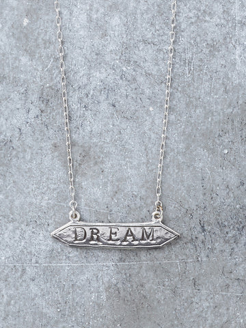 Sterling Dream Bar Necklace