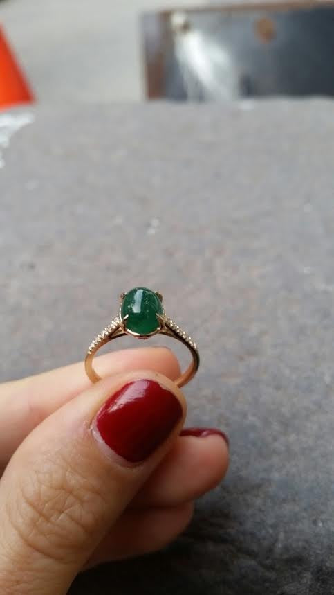 Guinevere Emerald Cabochon Ring 3
