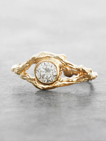 Fairy Branch Ring with 1/2 Carat Diamond
