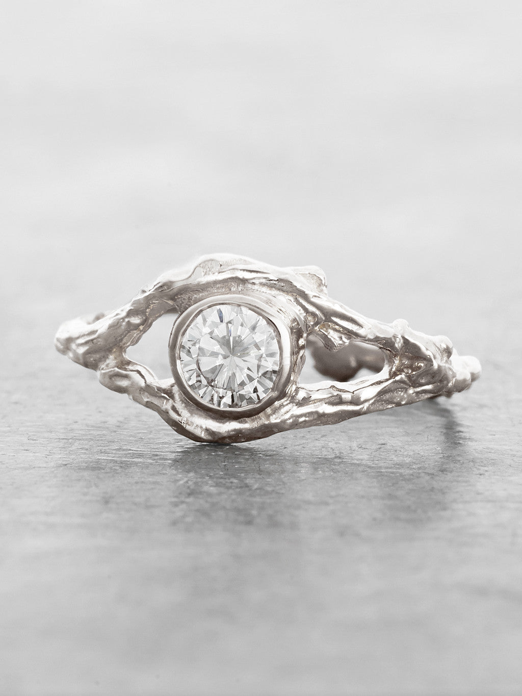 Fairy Branch Ring White Gold