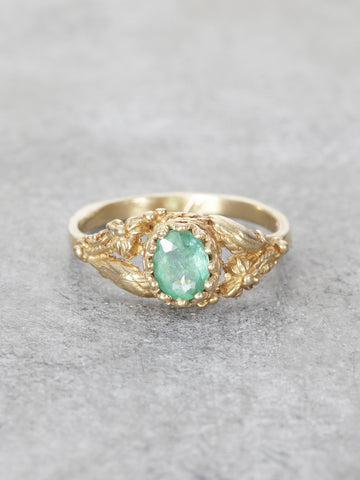 Emerald Garden of Earthly Delights Ring