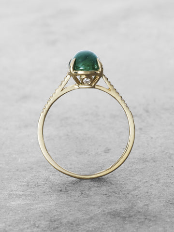 Guinevere Emerald Cabochon Ring