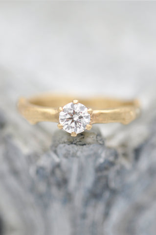 Forest Nymph Solitaire Diamond Branch Ring