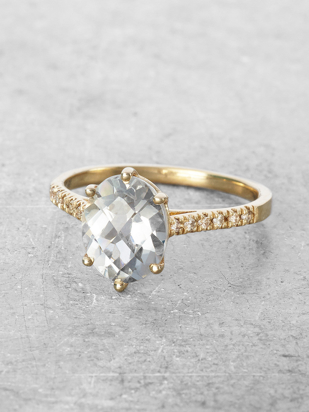 Green Amethyst Marietta Ring