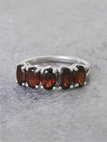 Garnet Guardian's Gate Ring