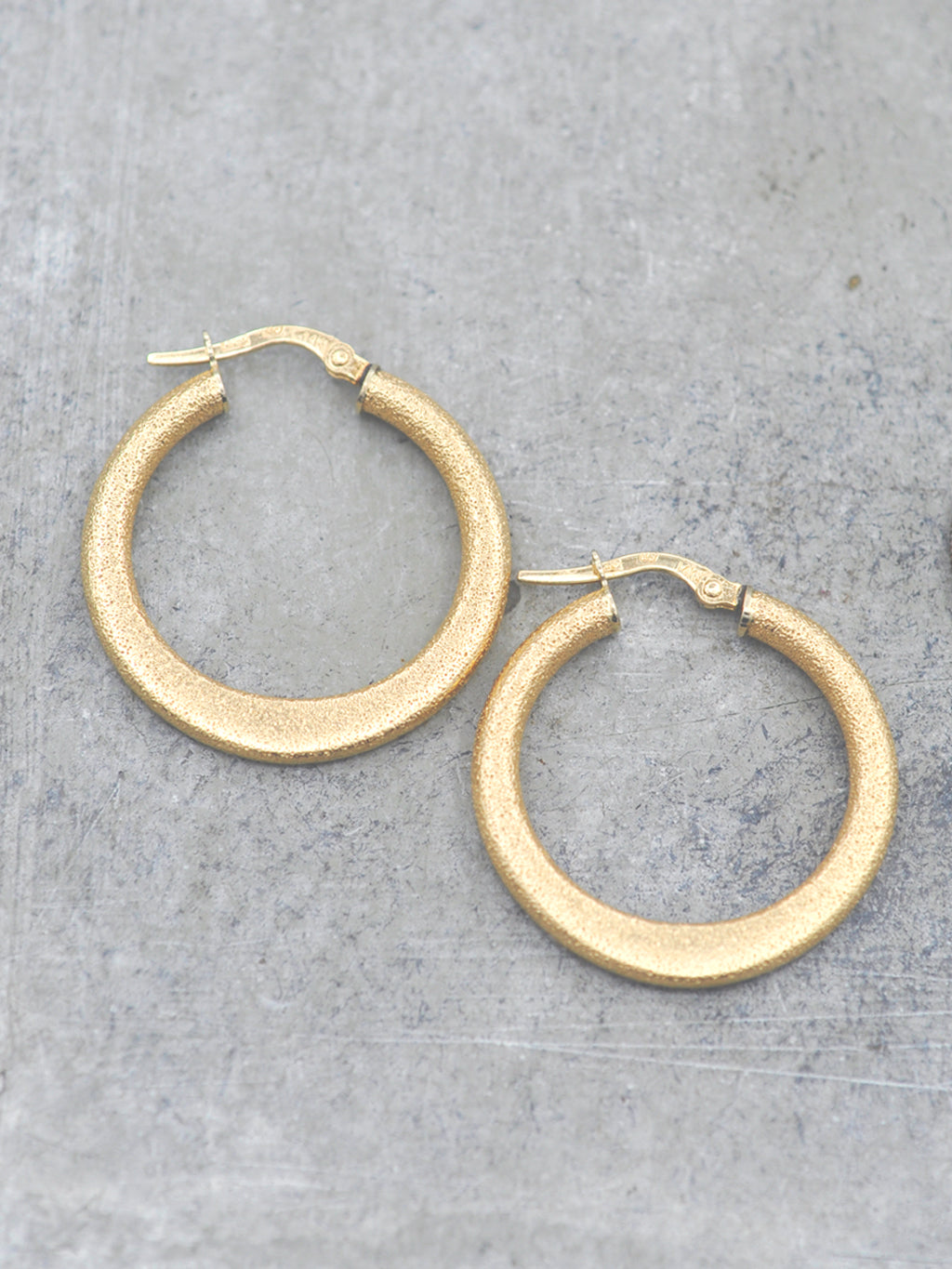 14K Gold Medium Stardust Hoops