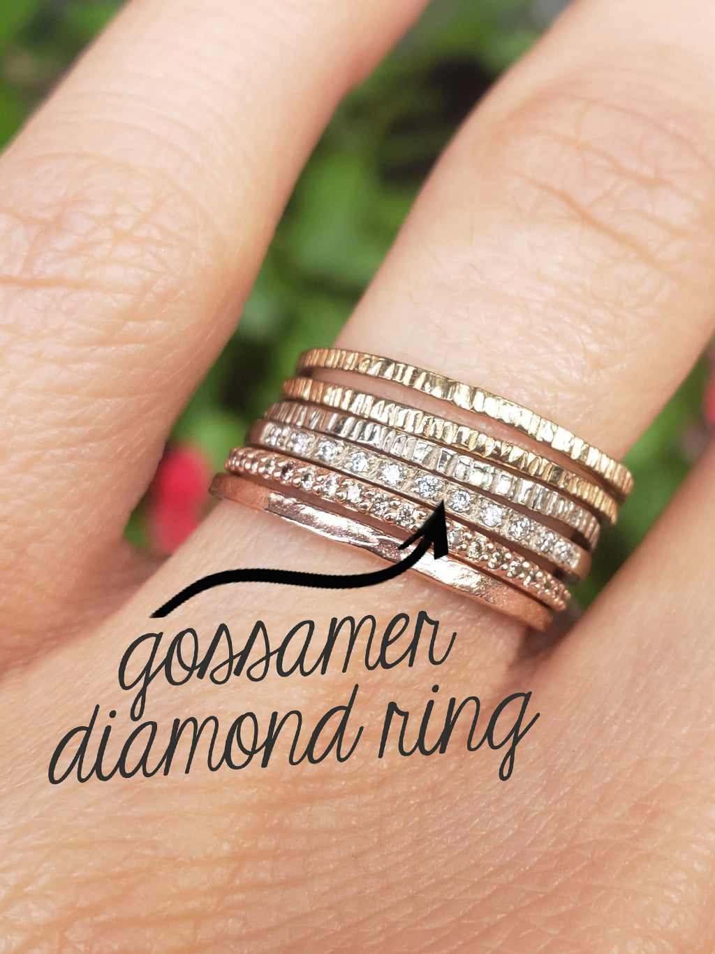 14K Eternity Gossamer Diamond Band