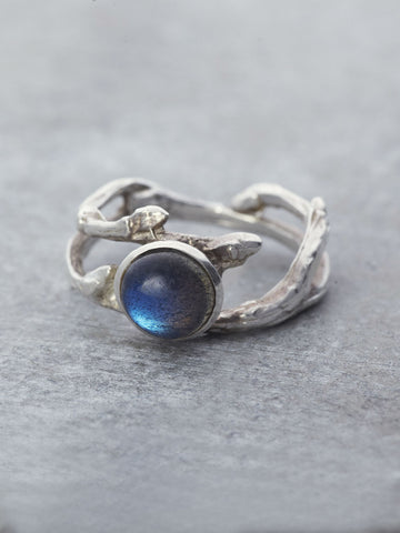 Labradorite Branch Ring