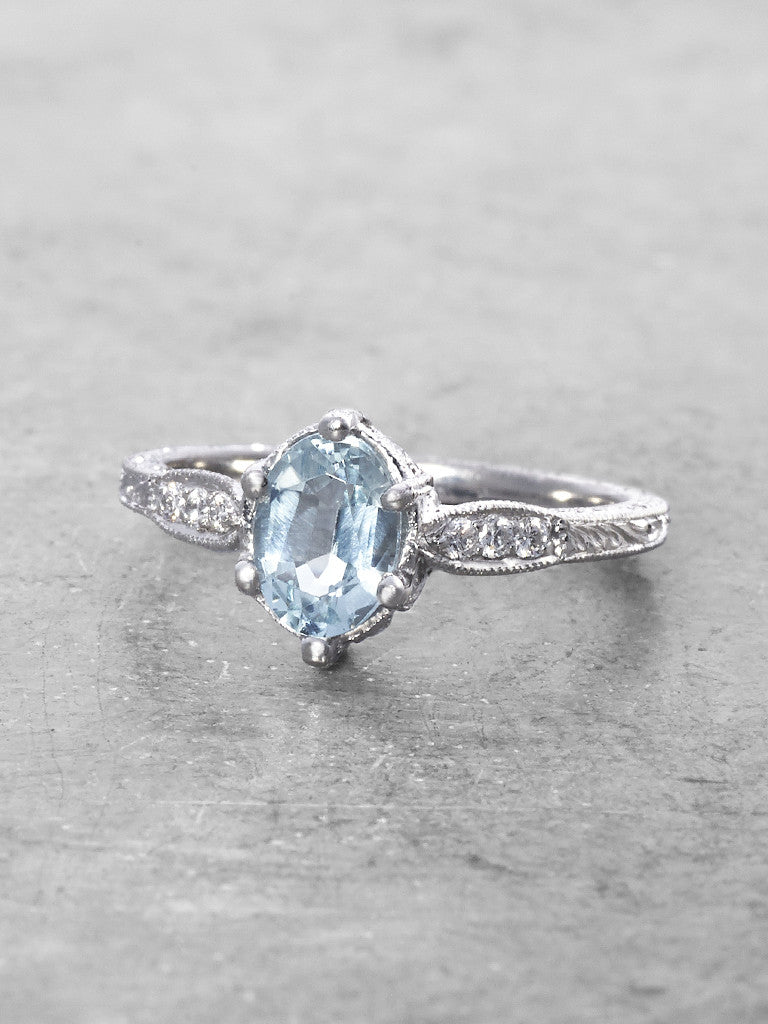 Priscilla Aquamarine & Diamond Ring