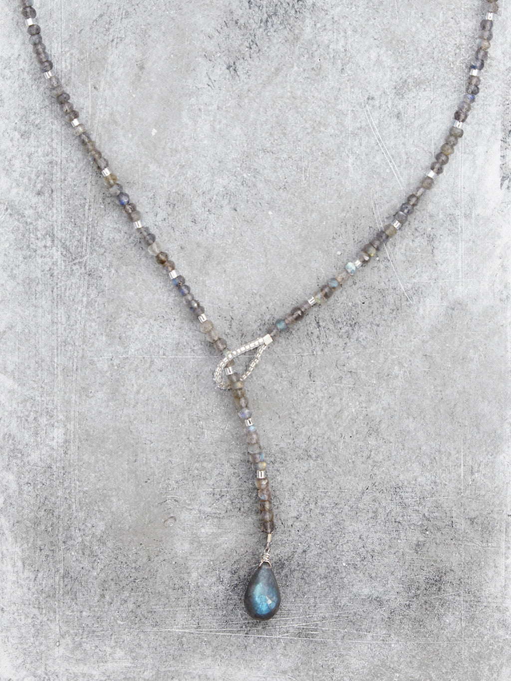 Labradorite Lariat Necklace