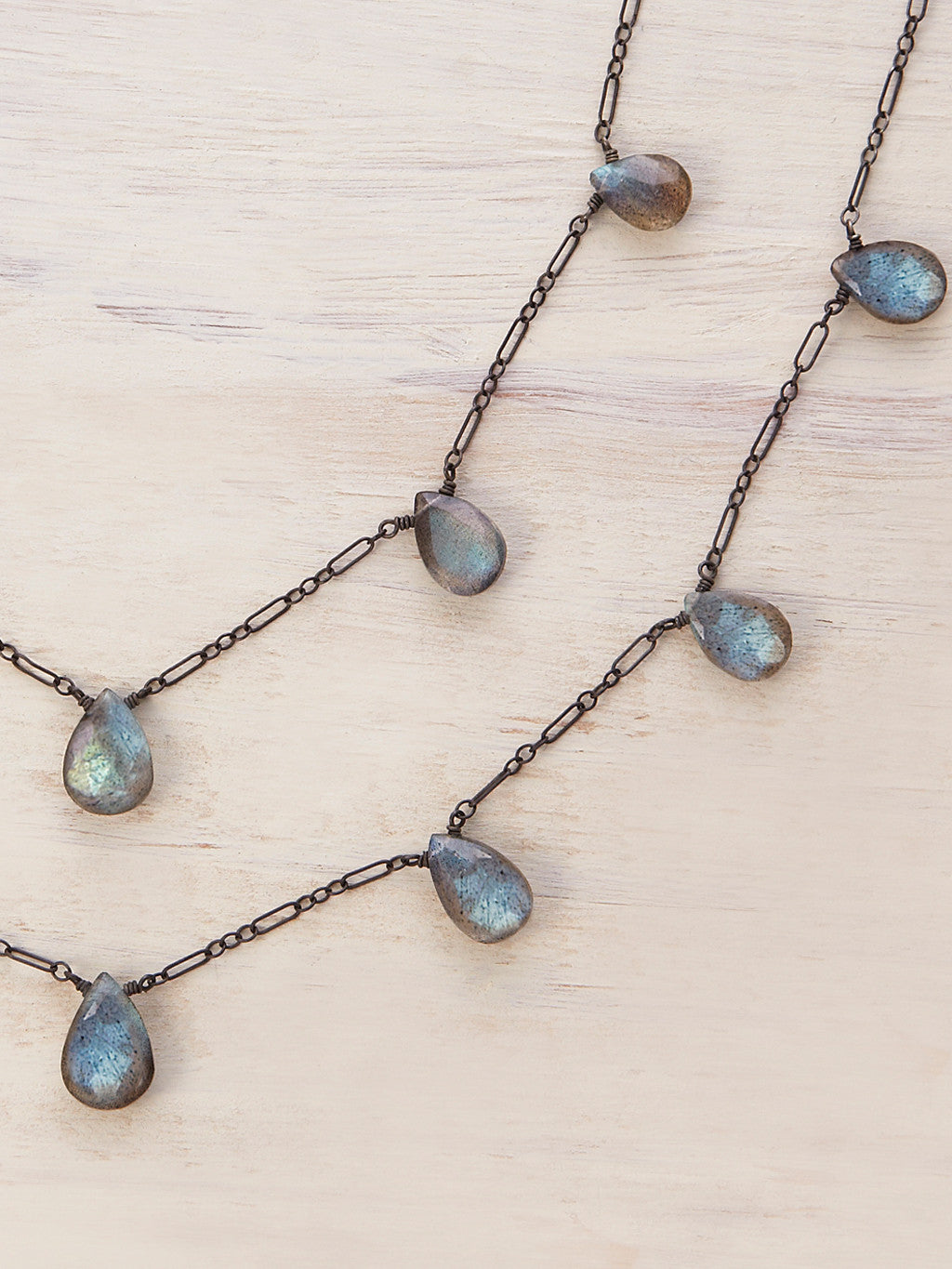 Double Strand Labradorite Necklace