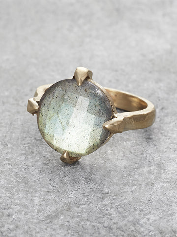 Labradorite Floating Orb Ring