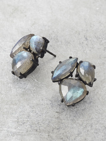 Labradorite Trinity Post Earrings