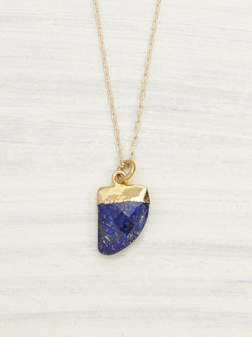 Lapis Horn Layering Necklace